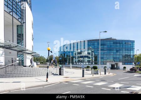 Eastern Gateway and Mary Seacole Buildings, Brunel University London, Uxbridge, London Borough of Hillingdon, Greater London, England, United Kingdom - Stock Photo