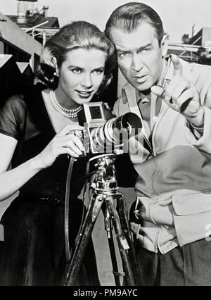 James Stewart, Grace Kelly, 'Rear Window' 1954. Paramount - Stock Photo