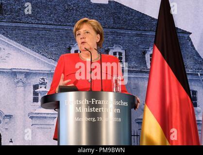 Berlin, Germany. 19th June, 2018. German Chancellor Angela Merkel seen holding a press conference in Berlin. Credit: Lorena De La Cuesta/SOPA Images/ZUMA Wire/Alamy Live News - Stock Photo