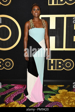 West Hollywood, CA, USA. 17th Sep, 2018. 17 September 2018 - West Hollywood, California - Issa Rae . 2018 HBO Emmy Party held at the Pacific Design Center. Photo Credit: Birdie Thompson/AdMedia Credit: Birdie Thompson/AdMedia/ZUMA Wire/Alamy Live News - Stock Photo