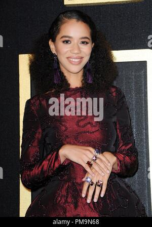 Los Angeles, CA, USA. 17th Sep, 2018. Jasmin Savoy Brown at arrivals for HBO Emmy Awards After-Party, Pacific Design Center, Los Angeles, CA September 17, 2018. Credit: Elizabeth Goodenough/Everett Collection/Alamy Live News - Stock Photo