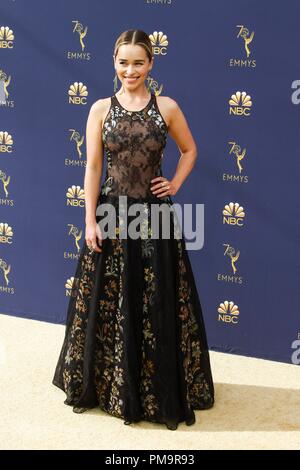 at arrivals for 70th Primetime Emmy Awards 2018 - ARRIVALS, Microsoft Theater, Los Angeles, CA September 17, 2018. Photo By: Elizabeth Goodenough/Everett Collection - Stock Photo