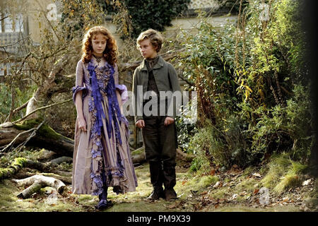 Helena Barlow stars as Young Estella and Toby Irvine stars as Young Pip in Outsource Media Group's Great Expectations (2012) - Stock Photo
