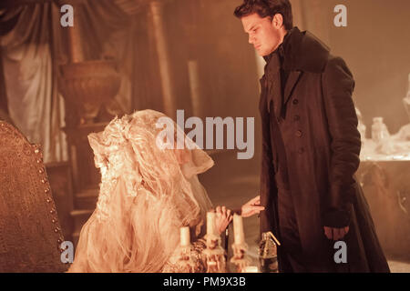 Helena Bonham Carter stars as Miss Havisham and Jeremy Irvine stars as Pip in Outsource Media Group's Great Expectations (2012) - Stock Photo