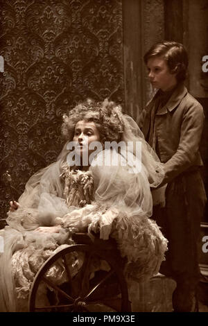 Helena Bonham Carter stars as Miss Havisham and Toby Irvine stars as Young Pip in Outsource Media Group's Great Expectations (2012) - Stock Photo