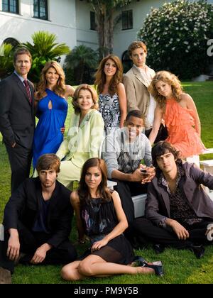 '90210' Pictured: (Front row l-r) Ryan Eggold as Ryan, Jessica Stroup as Silver, Michael Steger as Navid; (Middle Row l-r) Jessica Walter as Tabitha, Tristan Wilds as Dixon, AnnaLynne McCord as Naomi; (Back row l-r) Rob Estes as Harry, Lori Loughlin as Debbie, Shenae Grimes as Annie, Dustin Milligan as Ethan. - Stock Photo