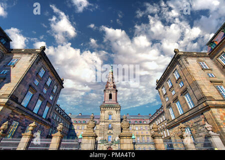 Christiansborg Palace in Copenhagen - Stock Photo