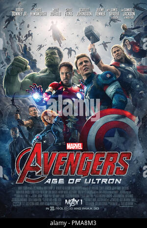 Marvel's Avengers: Age Of Ultron (Poster), Marvel 2015 Poster - Stock Photo