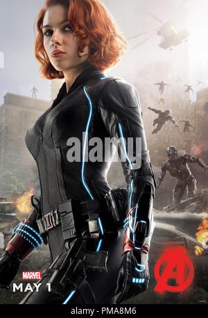 Marvel's Avengers: Age Of Ultron (Poster), Scarlet Johansson, Marvel 2015 - Stock Photo