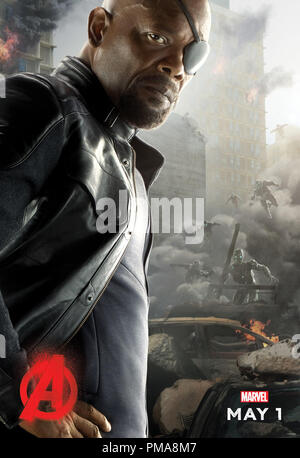 Marvel's Avengers: Age Of Ultron (Poster), Samuel L. Jackson, Marvel 2015 - Stock Photo