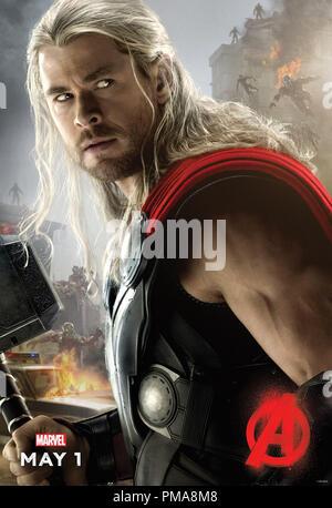 Marvel's Avengers: Age Of Ultron (Poster), Chris Hemsworth, Marvel 2015 - Stock Photo