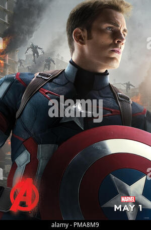 Marvel's Avengers: Age Of Ultron (Poster), Chris Evans, Marvel 2015 - Stock Photo