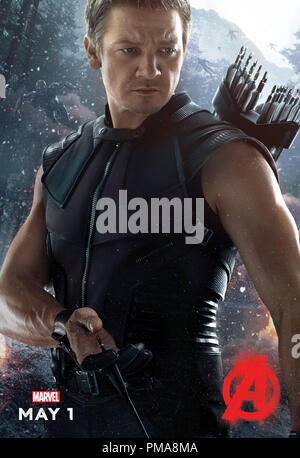Marvel's Avengers: Age Of Ultron (Poster), Jeremy Renner, Marvel 2015 - Stock Photo