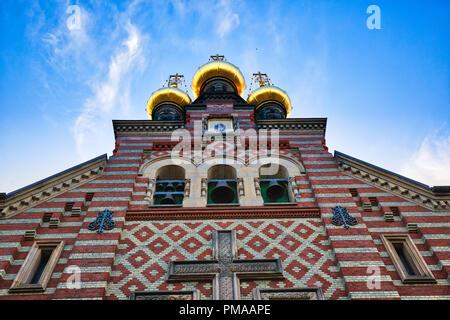 Russian Orthodox Alexander Nevskij (Nevsky) church located in historic center - Stock Photo