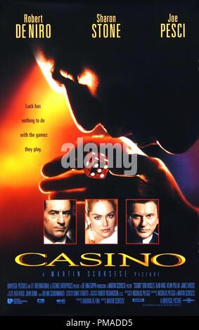 'Casino' - US Poster 1995 Universal Pictures  Robert De Niro, Sharon Stone, Joe Pesci  File Reference # 32509 082THA - Stock Photo