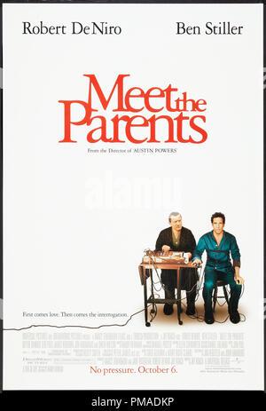'Meet the Parents' - US Poster 2000 Universal Pictures  Robert De Niro, Ben Stiller  File Reference # 32509 241THA - Stock Photo