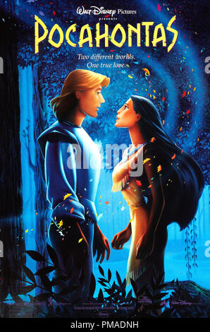 'Pocahontas' - US Poster 1995 Walt Disney Productions  File Reference # 32509 293THA - Stock Photo