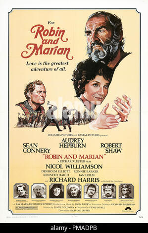 'Robin and Marian' - US Poster 1976 Columbia Pictures  Sean Connery, Audrey Hepburn, Robert Shaw  File Reference # 32509 313THA - Stock Photo