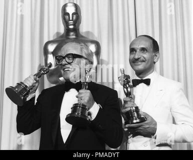 Sir Richard Attenborough, Ben Kingsley at the 55th Annual Academy Awards, 1983  File Reference # 32509 454THA - Stock Photo