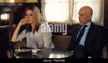 (L-r) SANDRA BULLOCK as Jane and BILLY BOB THORNTON as Pat Candy in Warner Bros. Pictures and Participant Media's satirical comedy 'OUR BRAND IS CRISIS,' a Warner Bros. Pictures release. - Stock Photo