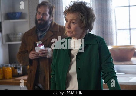 FARGO -- 'Before The Law' -- Episode 202 (Airs October 19, 10:00 pm e/p) Pictured: (l-r) Angus Sampson as Bear Gerhardt, Jean Smart as Floyd Gerhardt. - Stock Photo