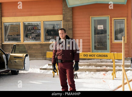 FARGO -- 'Before The Law' -- Episode 202 (Airs October 19, 10:00 pm e/p) Pictured: Patrick Wilson as Lou Solverson. - Stock Photo
