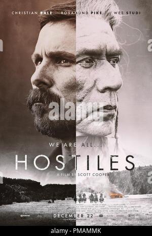 Hostiles (2017) Entertainment Studios Motion Pictures   Poster - Stock Photo