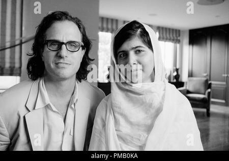 HE NAMED ME MALALA: Director Davis Guggenheim and Malala Yousafzai in New York City. July 12, 2013 © 2015 Twentieth Century Fox Film Corporation All Rights Reserved - Stock Photo