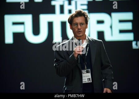 JOHNNY DEPP as Will Caster in Alcon Entertainment's sci-fi thriller 'TRANSCENDENCE,' a Warner Bros. Pictures release. - Stock Photo