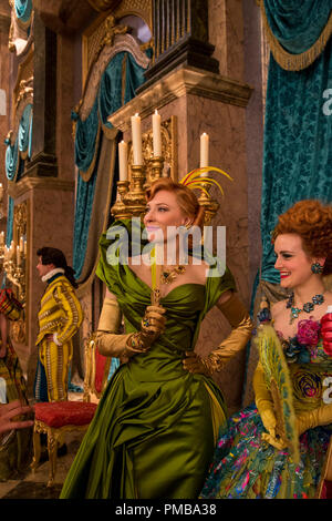 Cate Blanchett is the Stepmother and Sophie McShera is Drisella in Disney's live-action feature CINDERELLA which brings to life the timeless images from Disney's 1950 animated masterpiece as fully-realized characters in a visually dazzling spectacle for a whole new generation. - Stock Photo