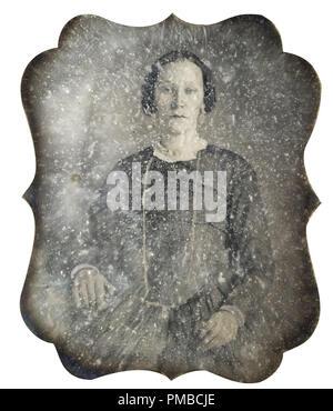 [Untitled] (Portrait of a Woman). Date/Period: Ca. 1860. Photograph. Daguerreotype. Author: Unidentified photographer. - Stock Photo