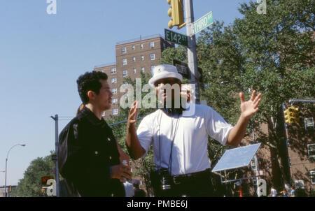 JOHN LEGUIZAMO and director FRANC. REYES  'Empire Two Worlds Collide' (2002) - Stock Photo