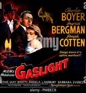 Charles Boyer, Ingrid Bergman 'Gaslight' 1944 MGM  Poster  File Reference # 33371 622THA