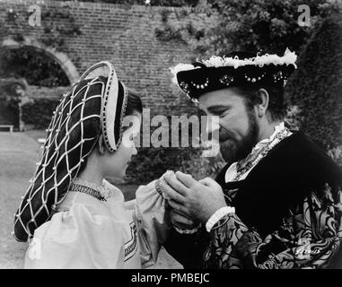 Genevieve Bujold and Richard Burton, 'Anne of the Thousand Days' 1969 Universal  File Reference # 33371_746THA - Stock Photo