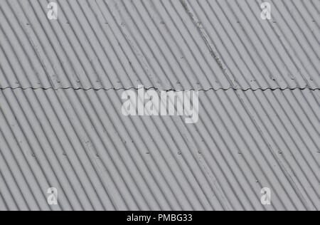 Historic corrugated iron roof at Lanyon Homestead, Canberra, ACT, Australia. - Stock Photo