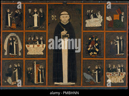Panel of Saint Dominic. Date/Period: First quarter of 14th century. Painting. Tempera and varnished metal plate on wood. Height: 1,340 mm (52.75 in); Width: 1,930 mm (75.98 in). Author: UNKNOWN. - Stock Photo