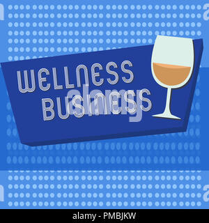 Handwriting text writing Wellness Business. Concept meaning Professional venture focusing the health of mind and body. - Stock Photo