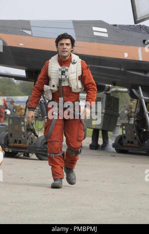 'Star Wars: Episode VII - The Force Awakens' (2015) © Lucasfilm 2015  Poe Dameron (Oscar Isaac) - Stock Photo
