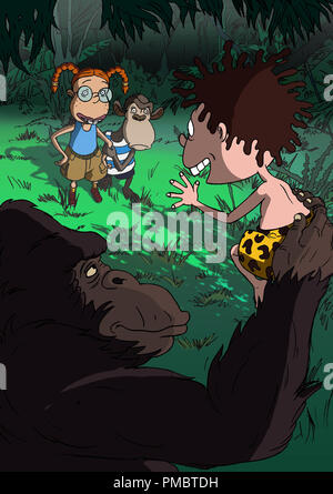 (Left to right) Eliza, Darwin and Donnie in 'The Wild Thornberrys Movie.' (2002) - Stock Photo