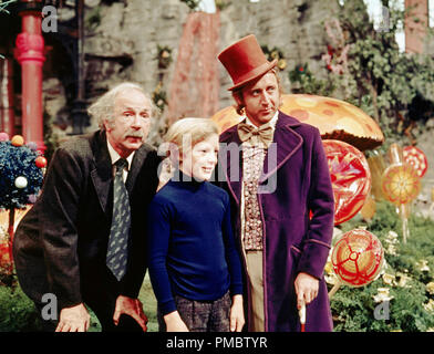 JACK ALBERTSON PETER OSTRUM & GENE WILDER WILLY WONKA ... Jack Albertson Willy Wonka