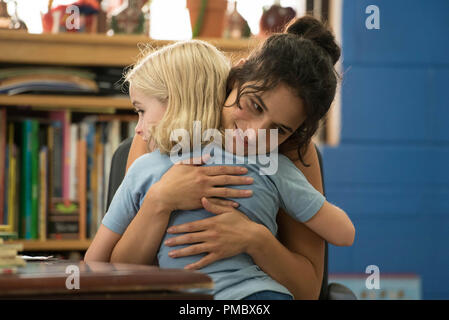 Jenny Slate as 'Bonnie' and Mckenna Grace as 'Mary' in the film GIFTED. (2017) Twentieth Century Fox Film Corporation - Stock Photo