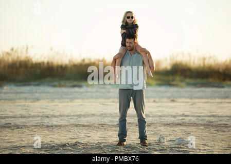 Mckenna Grace as 'Mary' and Chris Evans as 'Frank' in the film GIFTED.  (2017) Twentieth Century Fox Film Corporation - Stock Photo