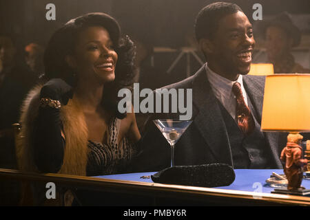 Keesha Sharp and Chadwick Boseman in 'Marshall' (2017) Open Road Films - Stock Photo
