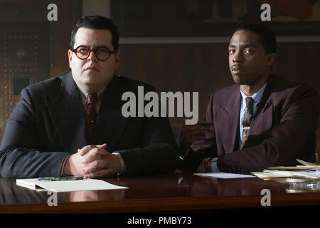 Josh Gad and Chadwick Boseman in 'Marshall' (2017) Open Road Films - Stock Photo