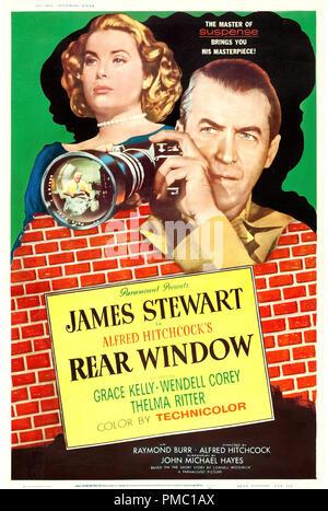 James Stewart,  Rear Window (Paramount, 1954). Poster File Reference  # 33595 316THA - Stock Photo