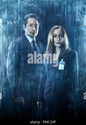 THE X-FILES:  L-R:  David Duchovny and Gillian Anderson in THE X-FILES  on Fox. - Stock Photo