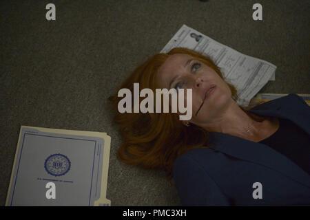 THE X-FILES:  Gillian Anderson in the 'My Struggle III' season premiere episode of THE X-FILES on Fox. © 2018 Fox Broadcasting Co. Cr: Sergei Bashlakov/Fox - Stock Photo
