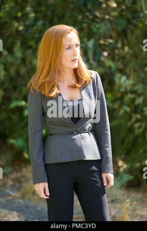 THE X-FILES:  Gillian Anderson in the 'Plus One' episode of THE X-FILES on Fox. © 2018 Fox Broadcasting Co. Cr:  Shane Harvey/Fox - Stock Photo