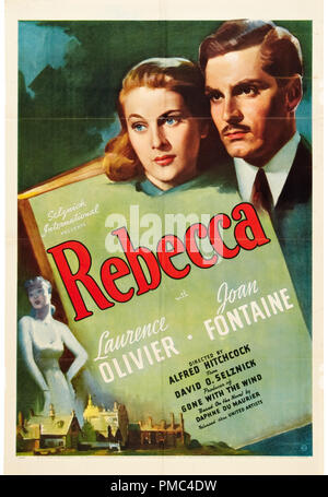 Laurence Olivier, Joan Fontaine,  Rebecca (United Artists, 1940). Poster  File Reference # 33595 689THA - Stock Photo