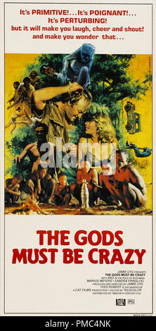 Marius Weyers,  The Gods Must Be Crazy (20th Century Fox, 1980). Australian Poster File Reference # 33595 901THA - Stock Photo